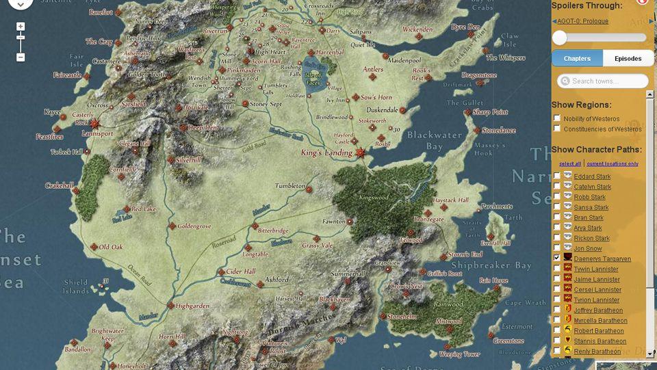 Desembarco Del Rey Mapa.Juego De Tronos Un Google Maps De Los Siete Reinos De Poniente