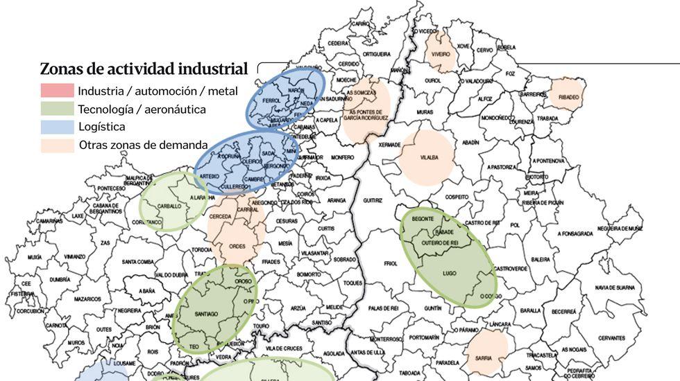 Mapa De Galicia Costa.La Nueva Inversion Industrial Rompe El Mapa Gallego Entre La