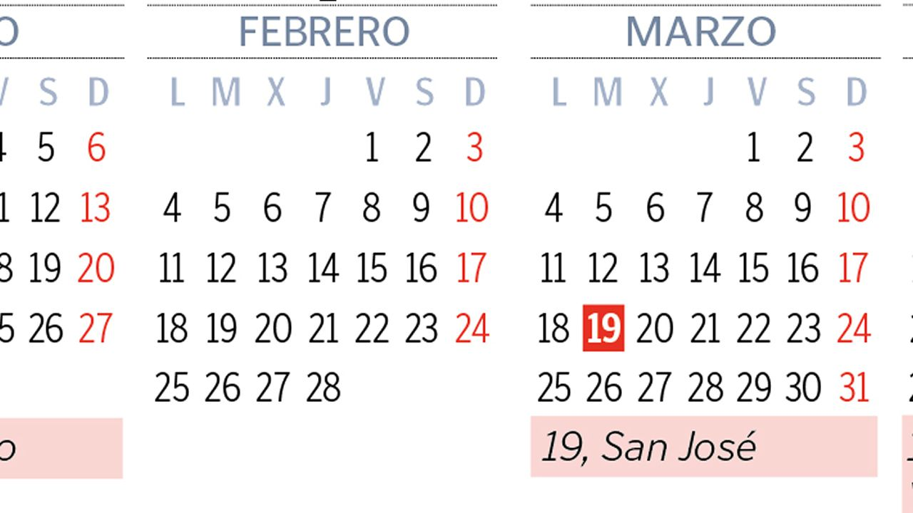 Calendario Laboral Pontevedra 2020.El Calendario Laboral Del 2019 Permitira Hasta Ocho Puentes