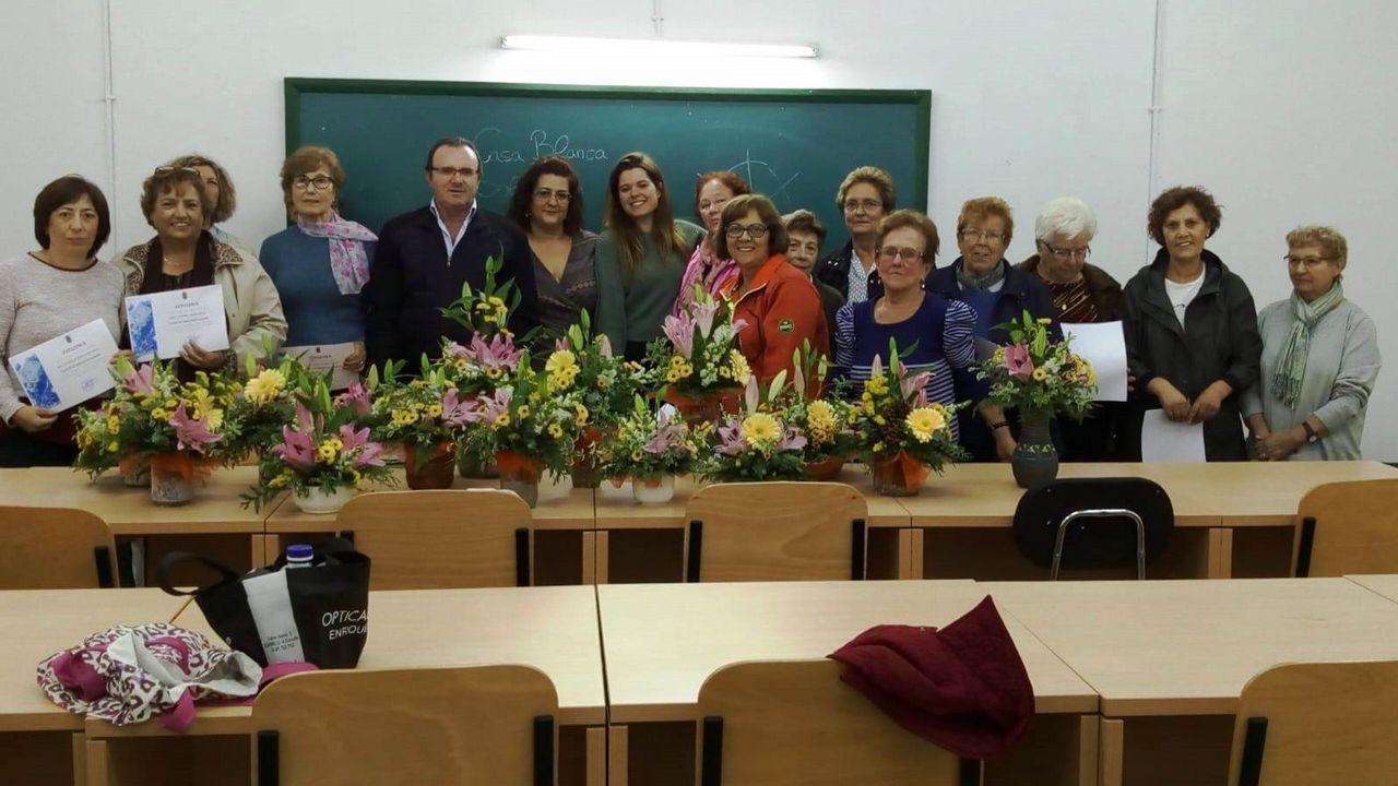 Fin De Los Cursos De Arreglos Florales En Malpica Y Buño
