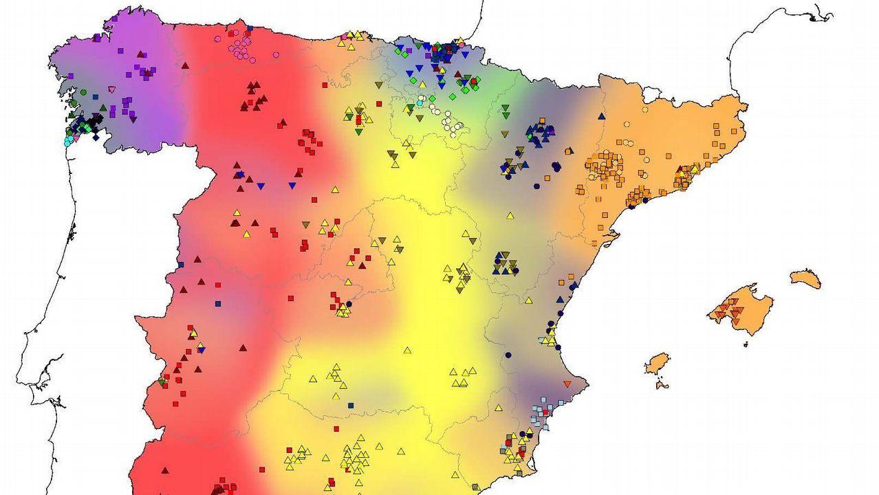 Mapa De Galicia España.Galicia Presenta Un Minifundismo Genetico Unico En El Mundo