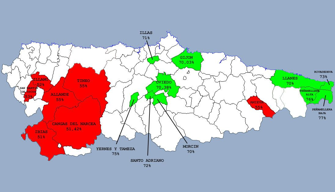 Estos Son Los Concejos Y Los Barrios De Asturias En Los Que Mas Y