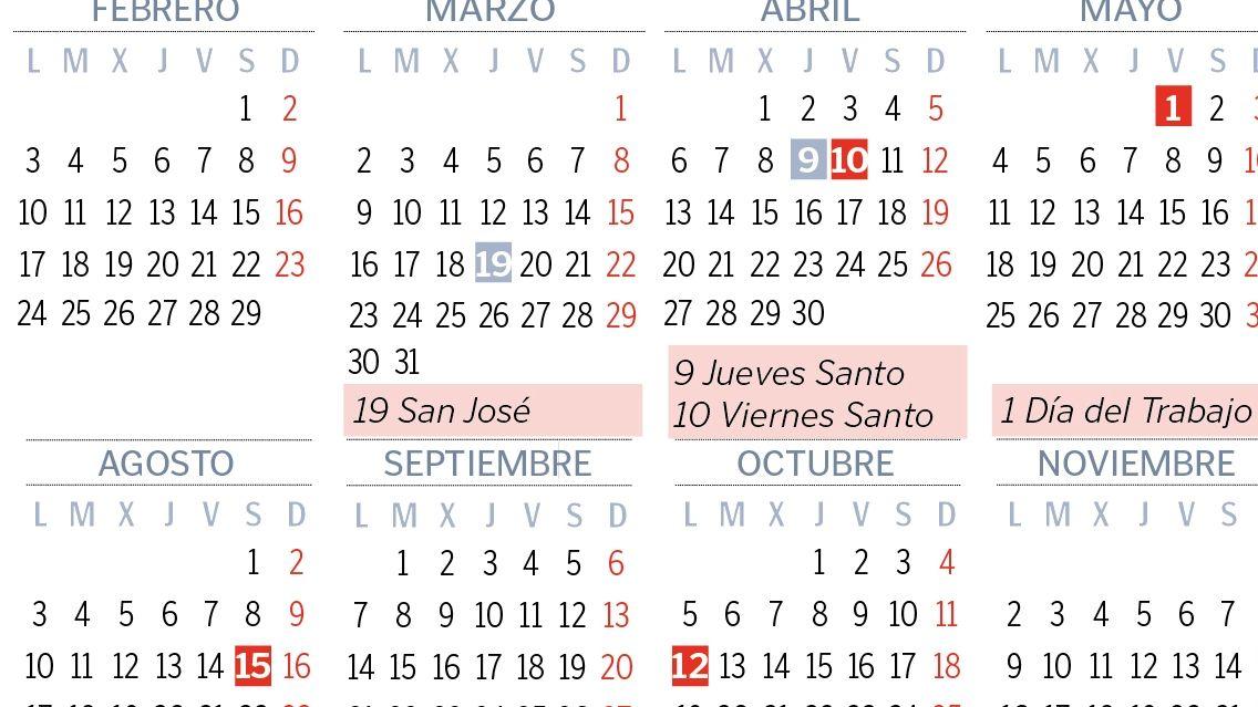 Calendario 2020 Espana Con Festivos.Siete Puentes Haran Mas Llevadero El Calendario Laboral Del 2020