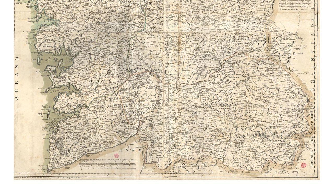 El Mapa De Galicia Del Geografo Tomas Lopez