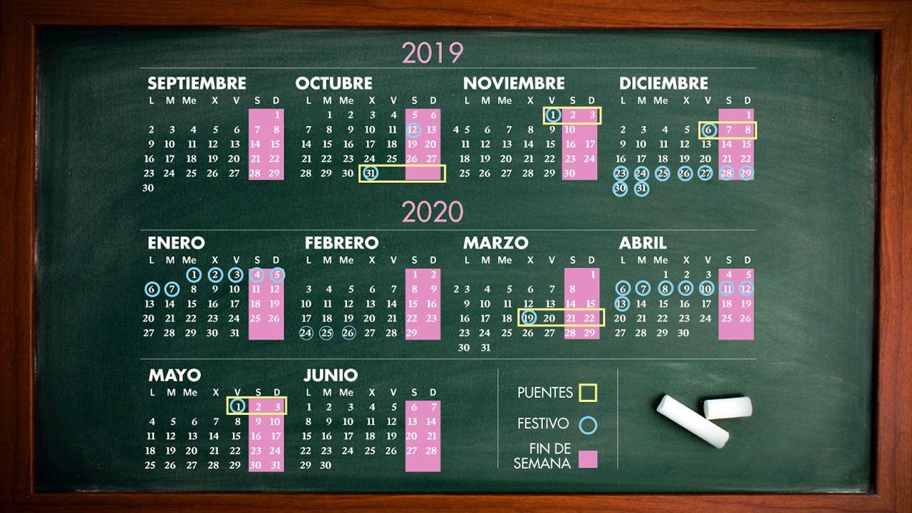 Calendario Belen 2020.Este Curso Tendras Vacaciones O Puentes Todos Los Meses