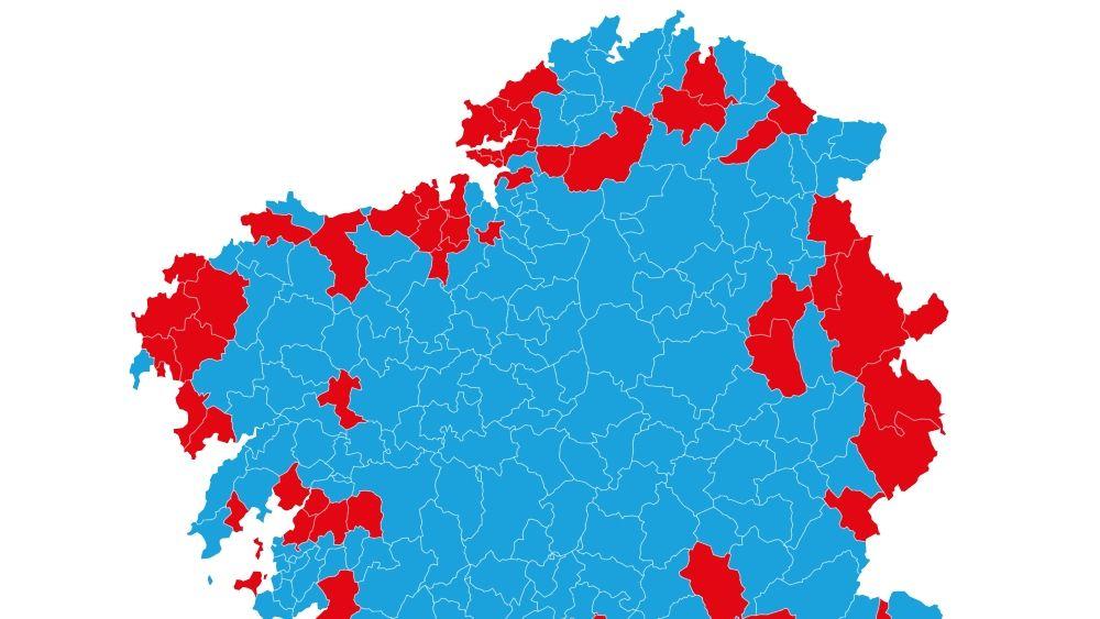 Mapa Politico De Galicia.El Mapa Politico Gallego Que Deja El 10n