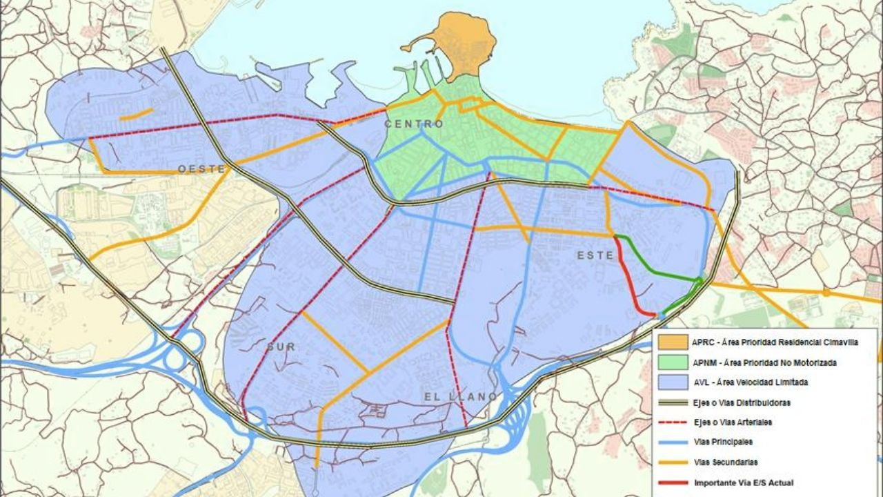 Mapa Carril Bici Gijon.Asi Va A Funcionar La Zona De Bajas Emisiones En Gijon