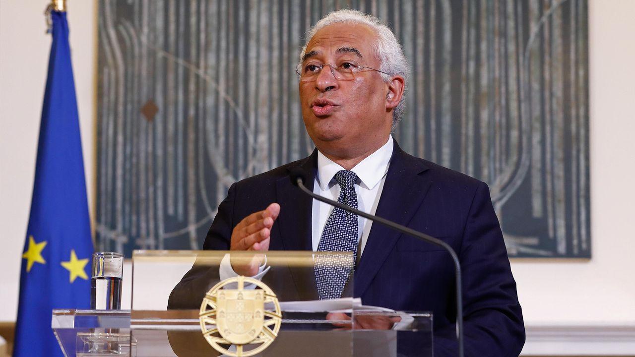 El primer ministro Portugal, Antonio Costa, se dirige a los portugueses para anunciar las medidas frente al coronavirus. ANTONIO PEDRO SANTOS   EFE