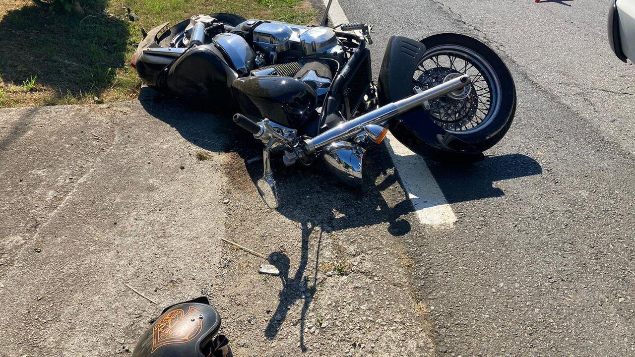 En el momento del accidente de moto | el