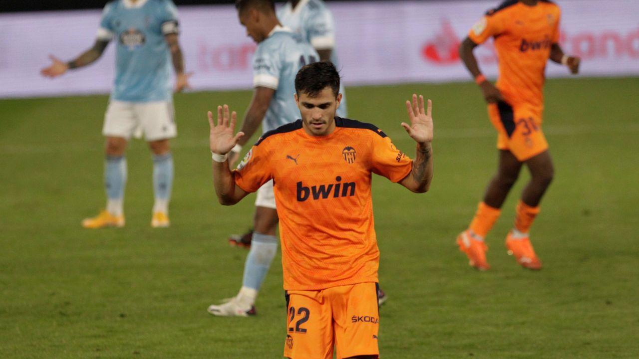 Maxi Gómez no celebró el primer gol que le marcaba al Celta