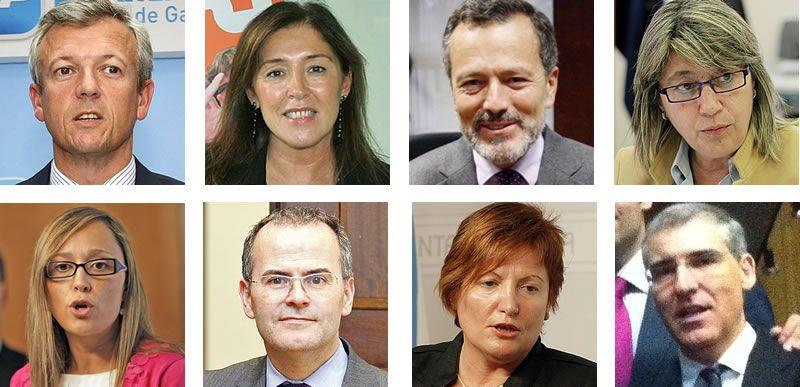El nuevo Gobierno de Alberto Núñez Feijoo.Foto de familia del nuevo Gobierno gallego