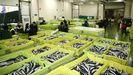 Imagen de una monumental subasta de bocarte en la lonja de Burela, que gestiona ABSA, el pasado abril