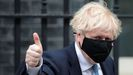 Boris Johnson, en la puerta de Downing Street