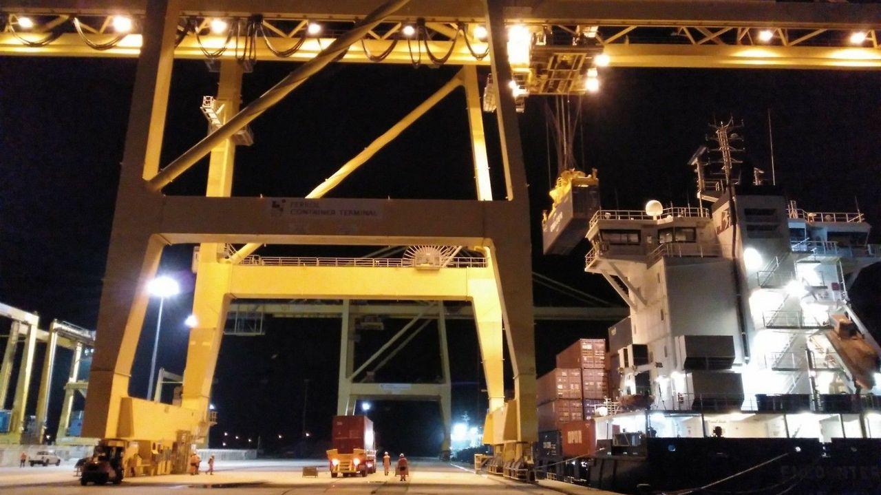 Terminal de carbón de Endesa en el puerto exterior