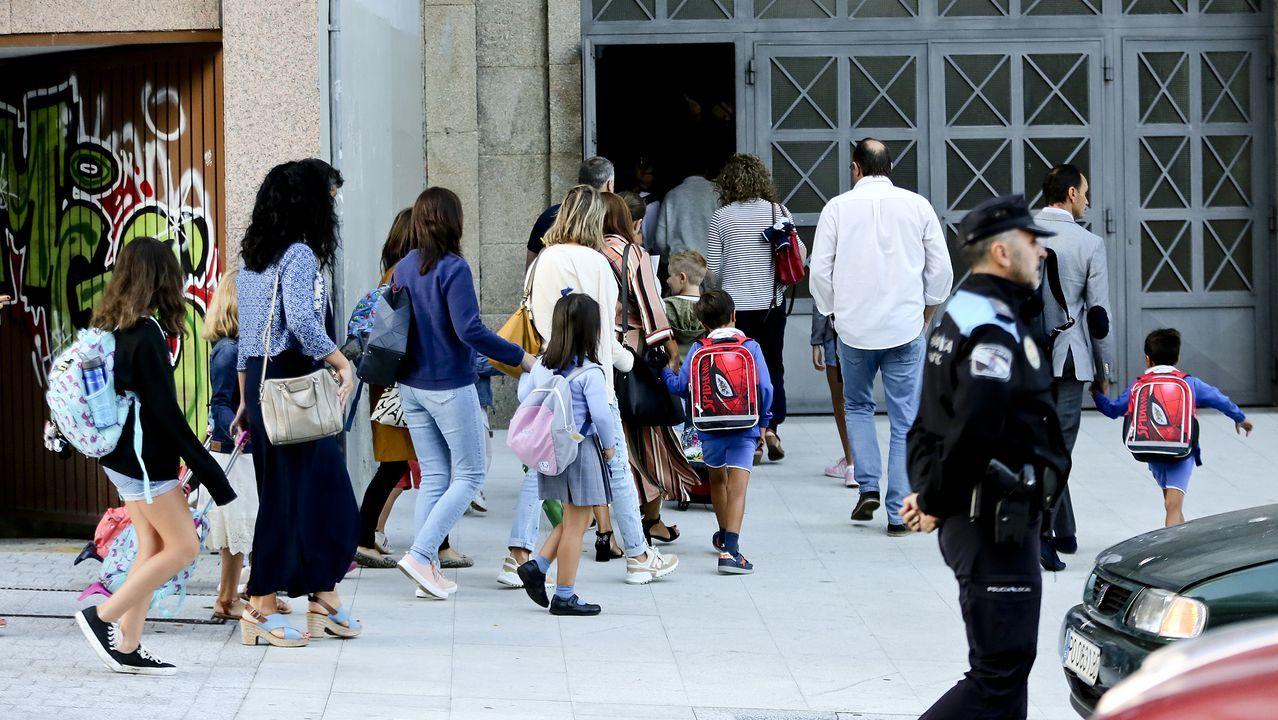 Entrada en el colegio Maristas en Vigo