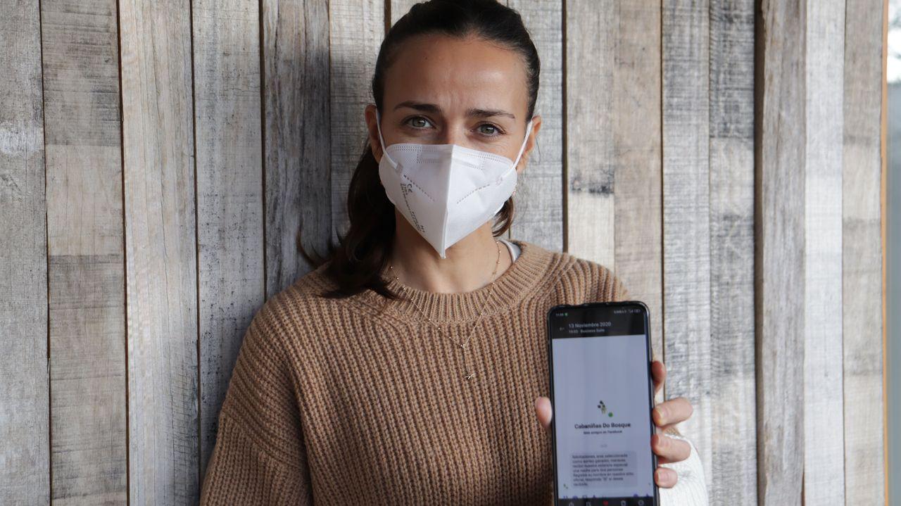 Renata Lema muestra el mensaje que se enviaba a los usuarios desde la cuenta falsa