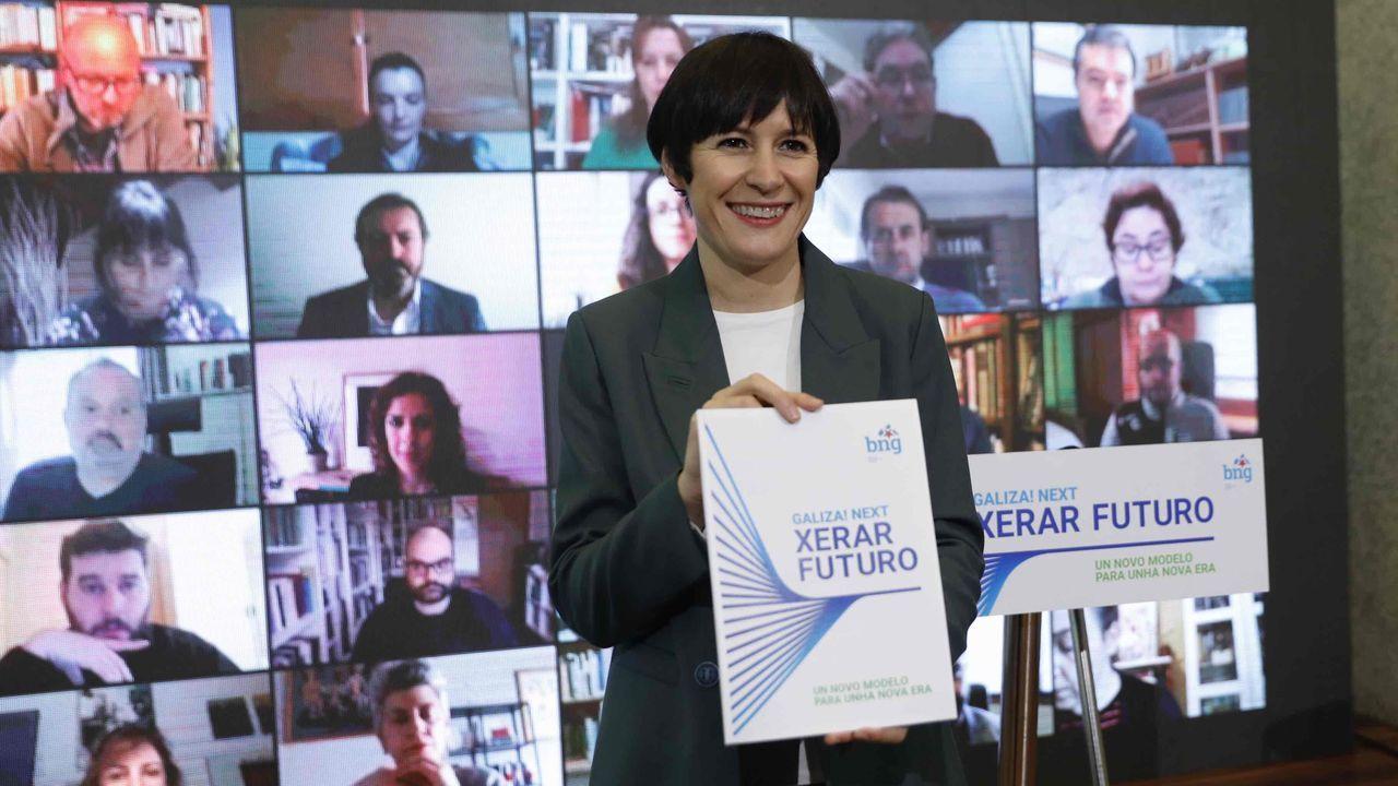 Entrevista a Ana Pontón.Feijoo, en una rueda de prensa