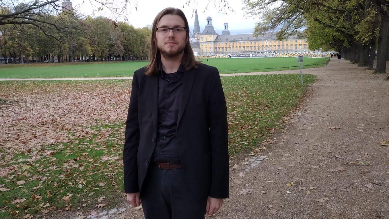 Jaime Pereira Maroto, retratado hace pocos días en Bonn