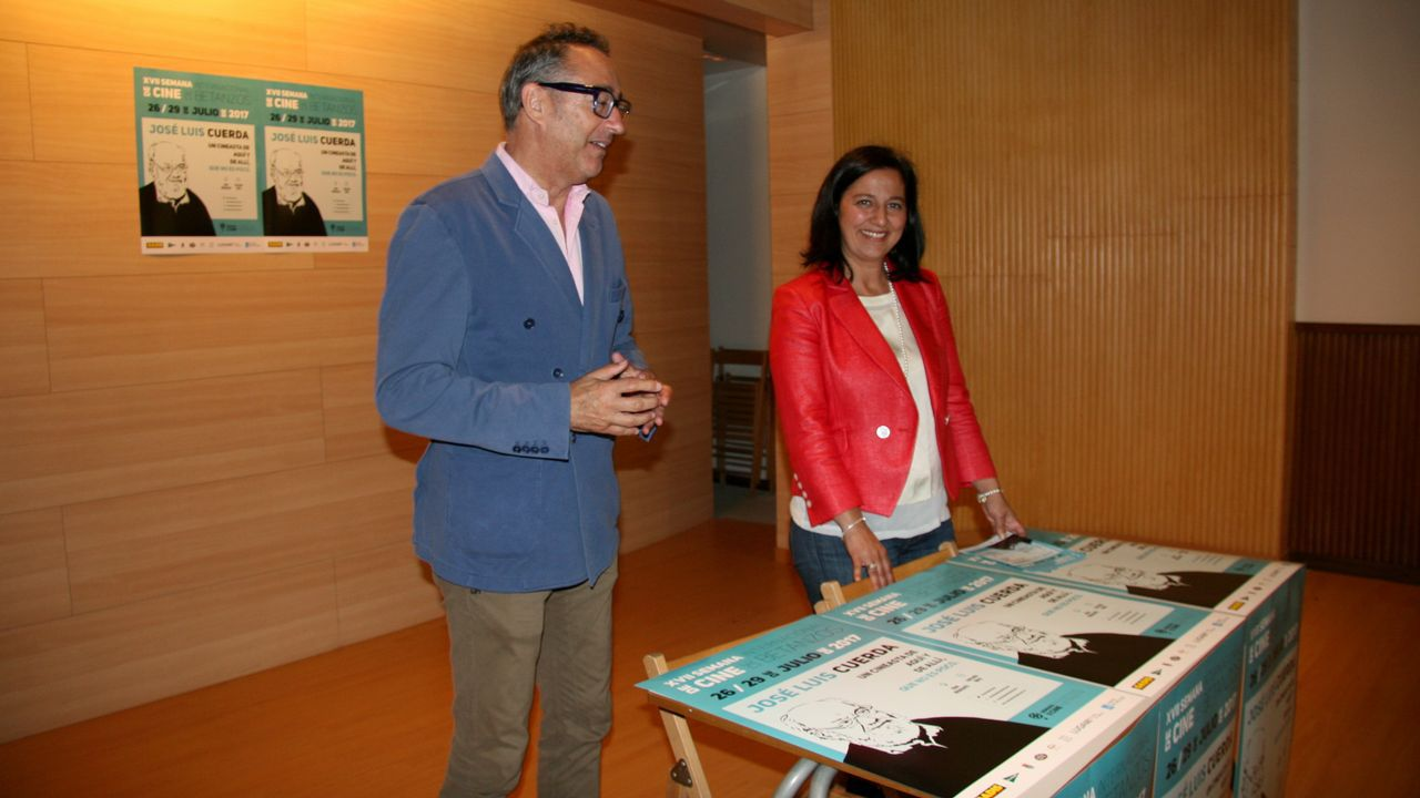 El concello de Ribadumia homenajea a Elida Abal.Semana Internacional del Cine en Betanzos