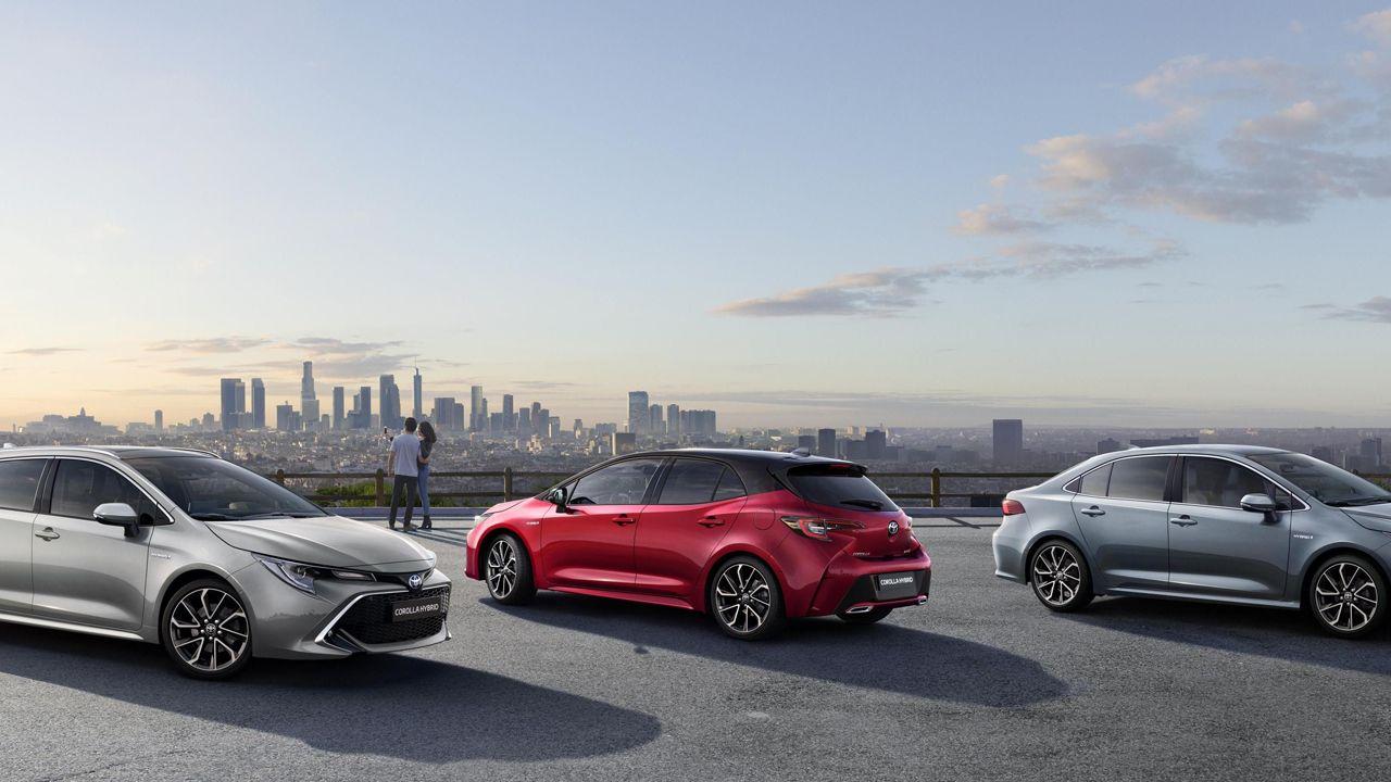 Imagen de los nuevos modelos de la gama Toyota Corolla