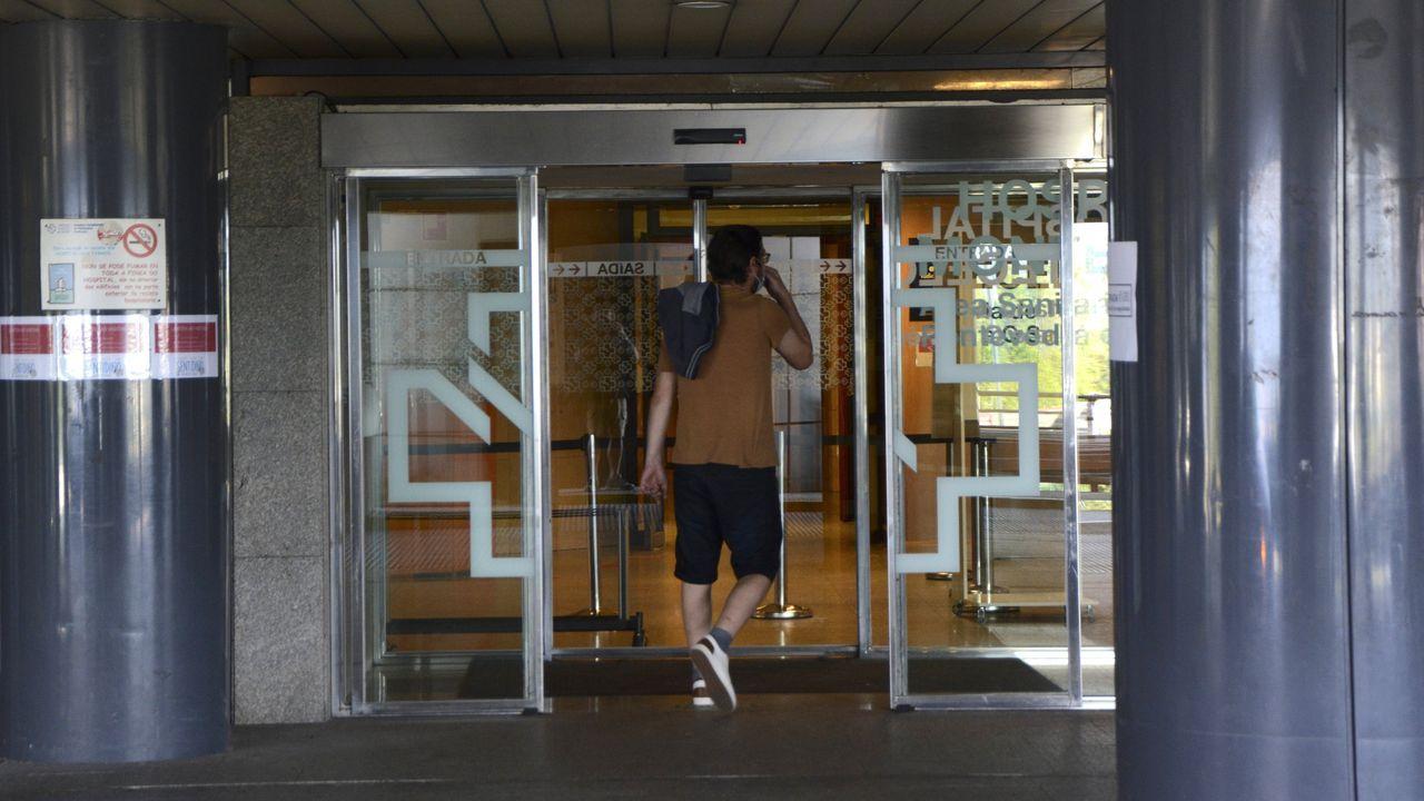 En el Hospital Montecelo de Pontevedra, en la imagen, ya no hay este miércoles ningún paciente ingresado con coronavirus