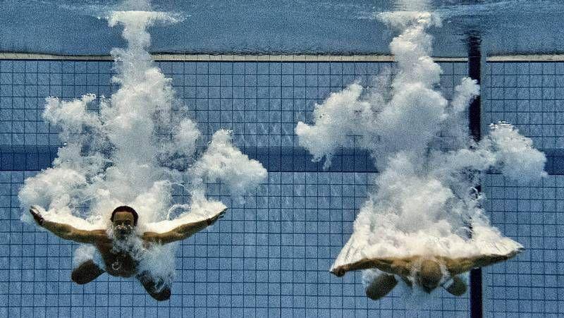 La tercera jornada de los Juegos Olímpicos de Londres 2012, en imágenes.Phelps, con su medalla de oro en 4x200 libres