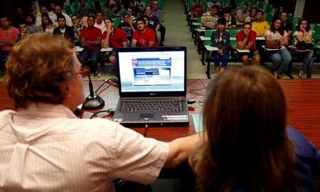 Una empresa alemana dio este verano en Vigo una charla para los interesados en emigrar