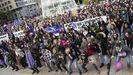 Acto contra la violencia de género en Gijón