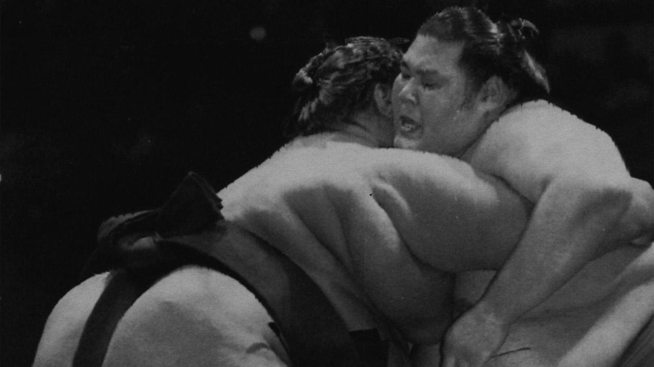 Fotografía de archivo de un combate de sumo