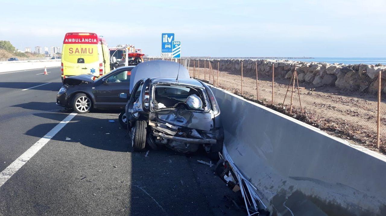 2019, el año con menos muertos con accidentes de tráfico.Imagen de uno de los últimos accidentes mortales de Galicia ocurridos en el 2019