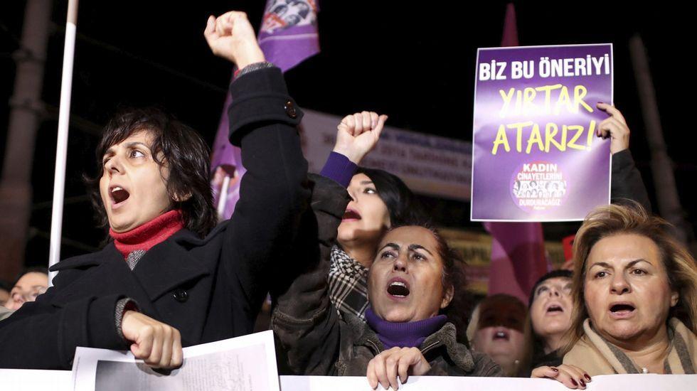 Protestas de mujeres en Turquía