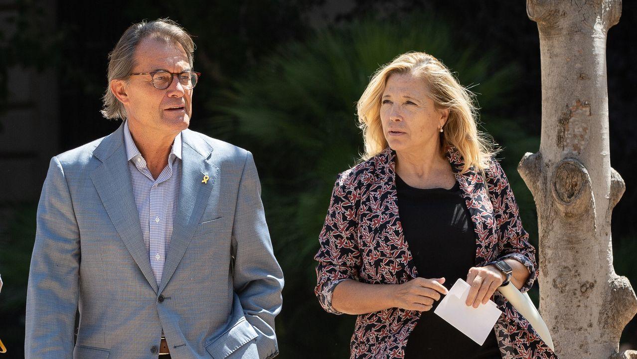 el expresidente de la Generalitat, Artur Mar, y la exvicepresidenta de la Generalitat, Joana Ortega