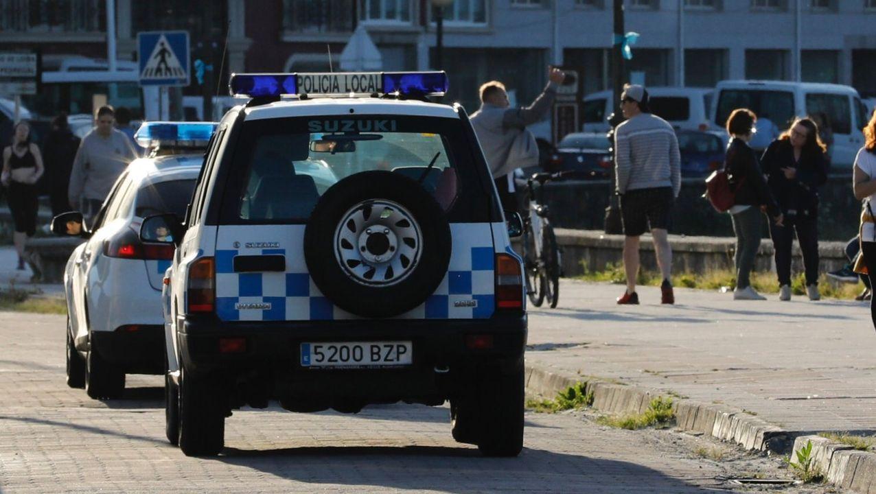 Imagen de archivo de la Policía Local de VIveiro durante una patrulla