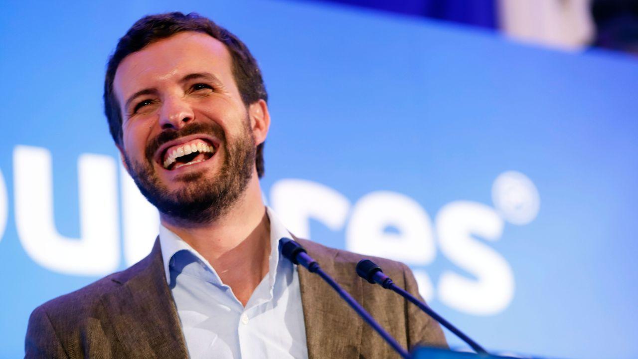 Pablo Casado, en un acto con los afiliados del PP en  Alhaurín el Grande (Málaga)