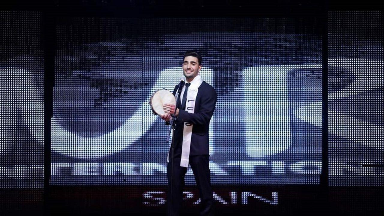 David Vilares durante a súa actuación na proba de talentos do certame