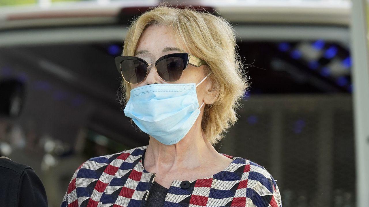 Mila Ximénez tras vacunarse del covid, el pasado 27 de mayo