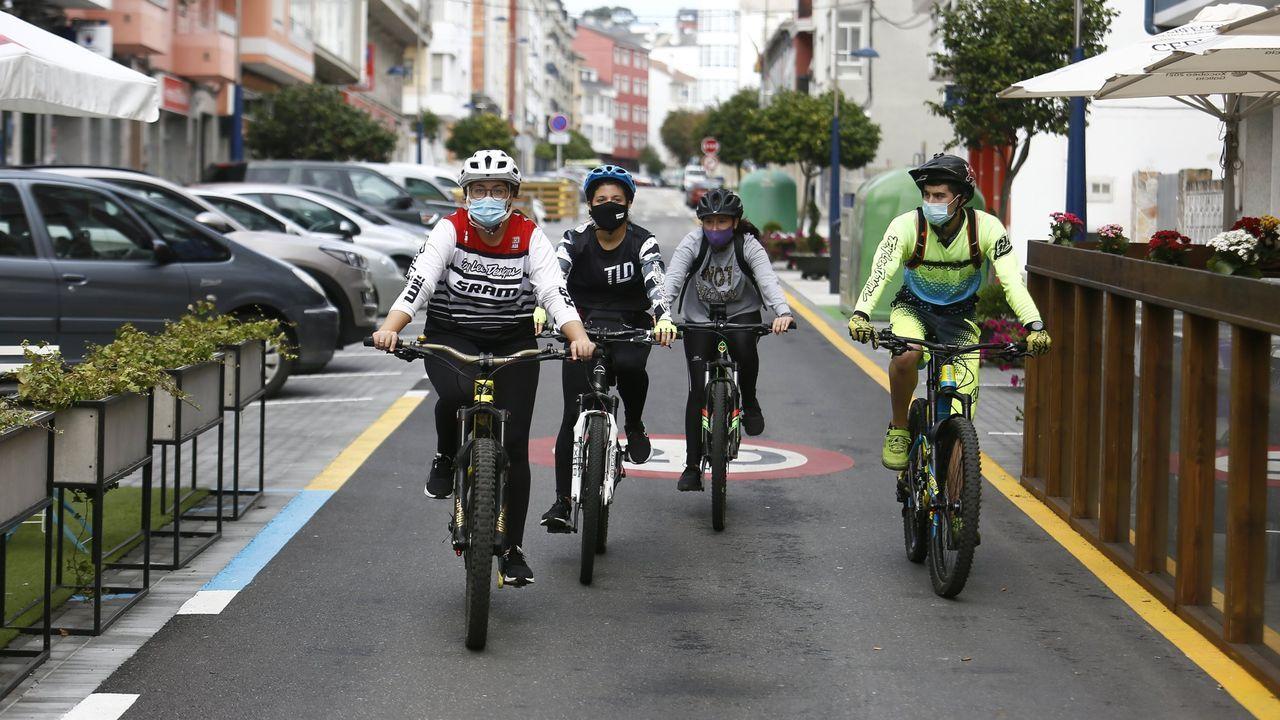 Celebración del día sin coches en Viveiro