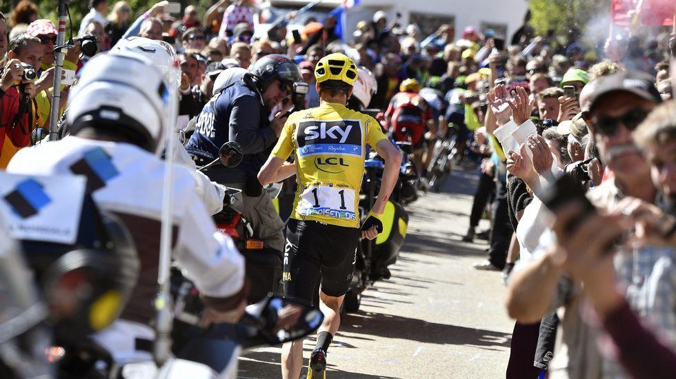 Así fue el rocambolesco final de etapa en el Tour.Nairo Quintana, en el pasado Giro
