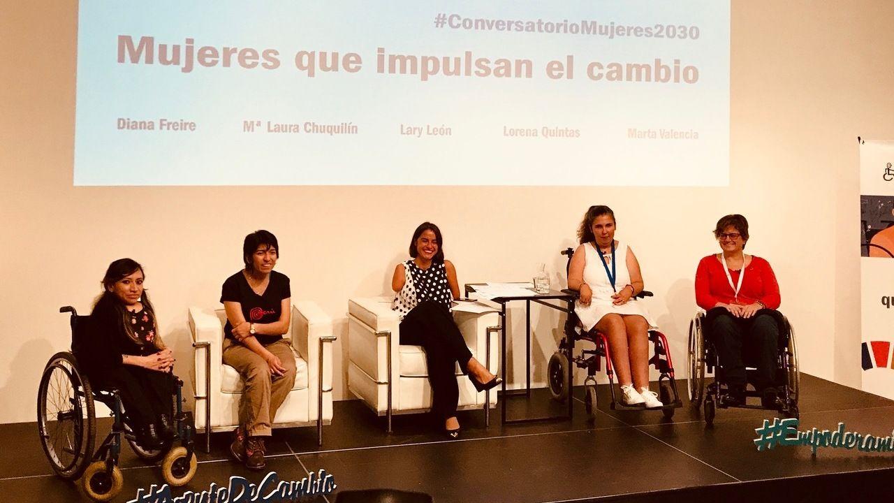 Lorena Quintas, emprendedora ourensana, en las jornadas celebradas en Madrid