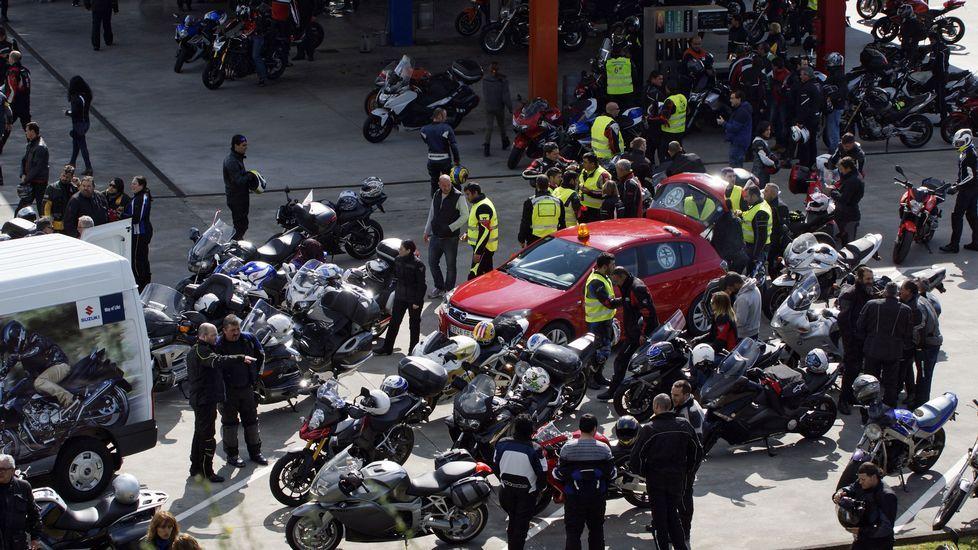 Ruta de los moteros por Ourense en protesta por toda Galicia.