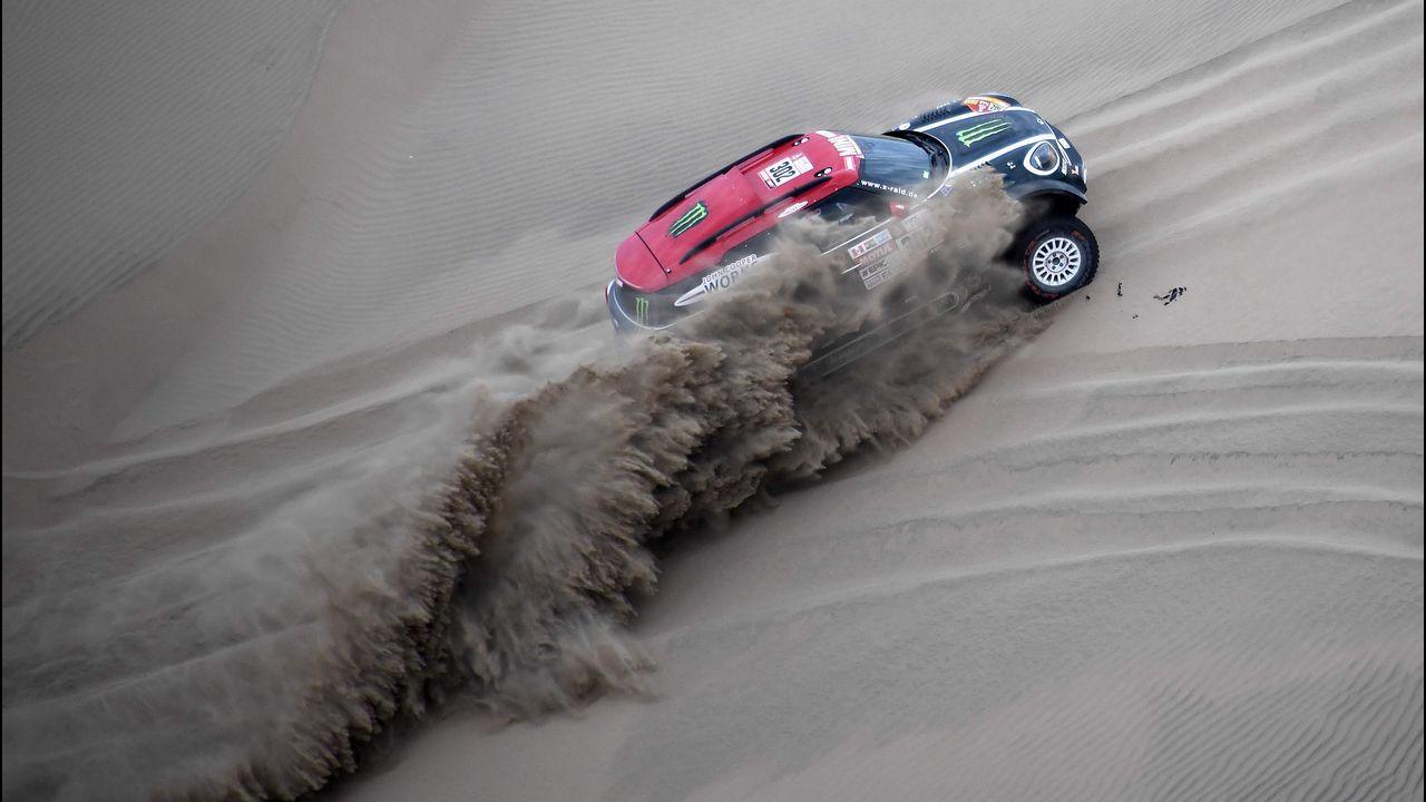 Nani Roma, durante la última edición del Dakar