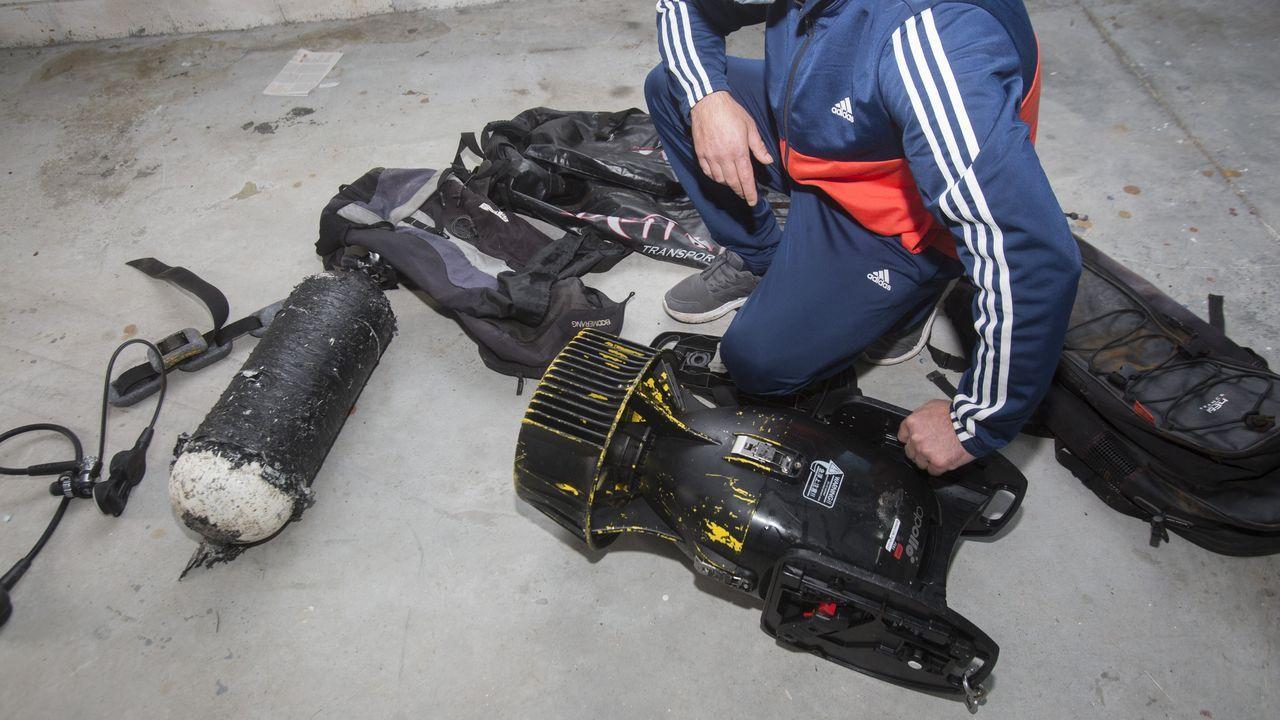 XXVIIIXornadas Técnicas de Pesca Expomaren Burela.Torpedo intervenido en Muxía a un furtivo