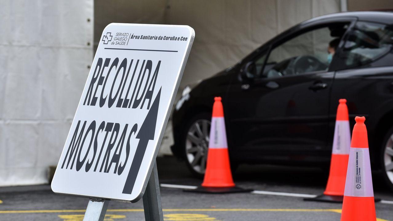 Covid-auto, punto de recogida de muestras para el test del coronavirus en A Coruña