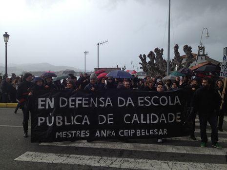 Manifestación en Monforte contra el cierre de ESO y BAC en el instituto Daviña Rey....