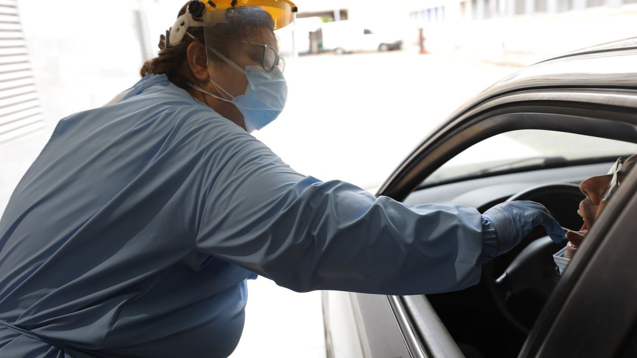 Imagen de archivo de una prueba realizada en el coche en A Mariña lucense