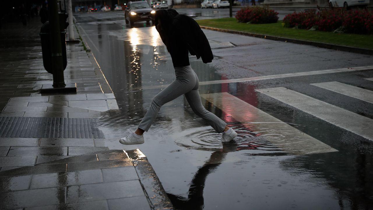 Tromba de agua en A Coruña