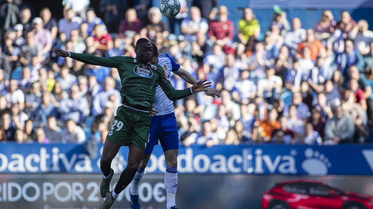 Todas las imágenes del Zaragoza-Deportivo en La Romareda.Ager Aketxe, en las instalaciones de la ciudad deportiva de Abegondo