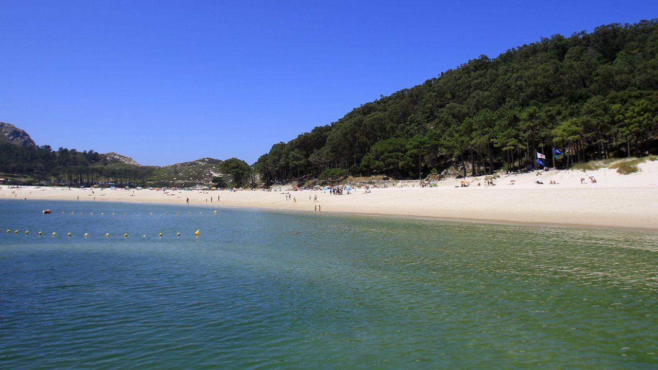 Playa de Rodas en las Illas Cíes