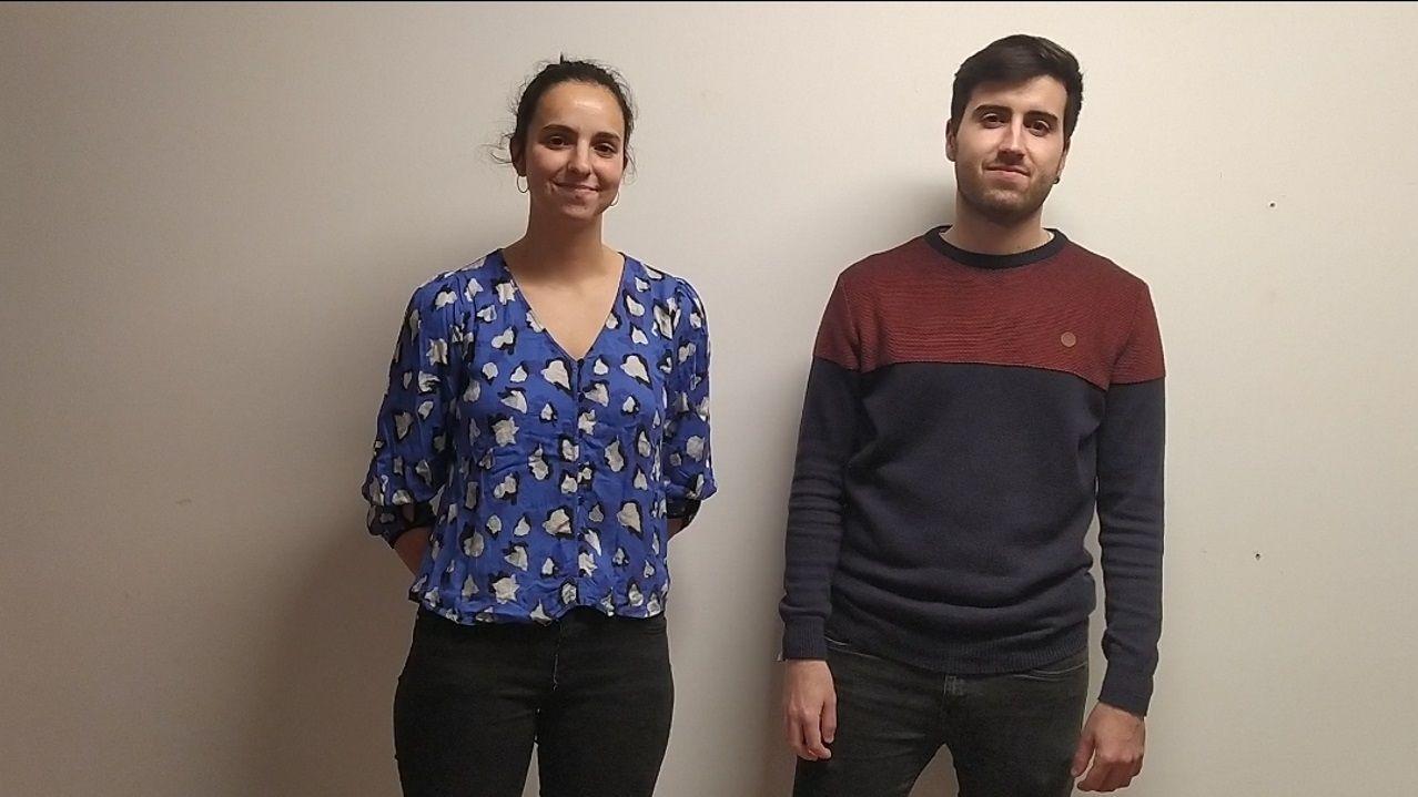 Iria y Martín comenzaron a trabajar en su proyecto (ODSProtein) en la Universidade de Vigo