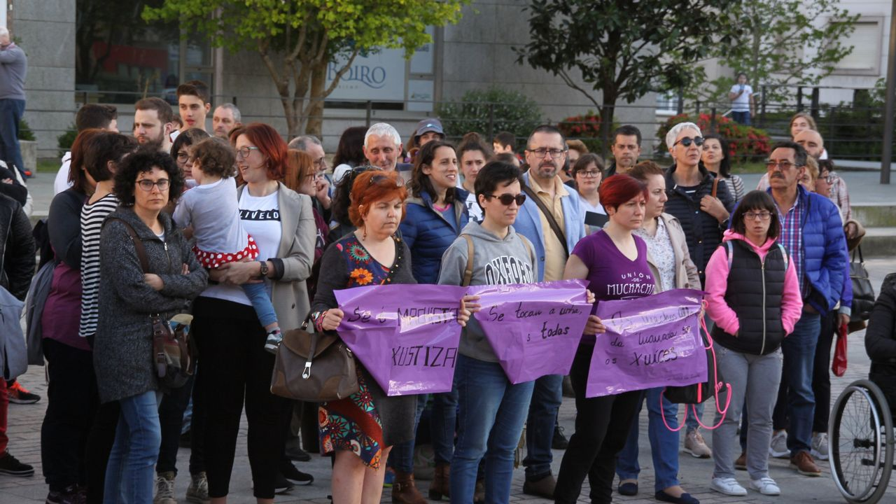 Protesta en Boiro
